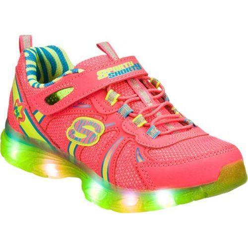 Girls' Skechers S Lights Glitzies Spark Upz Pink/Green