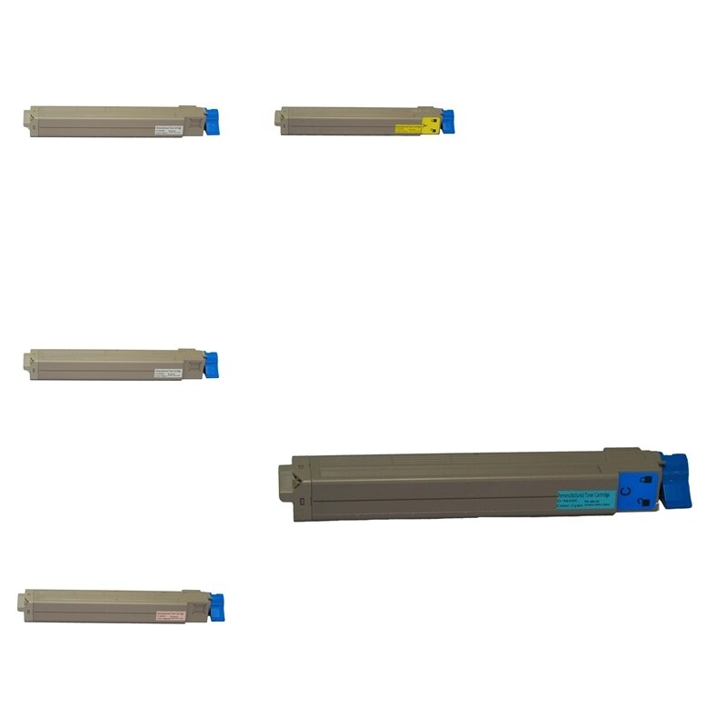 Insten Premium 2BCMY Color Toner Cartridge 42918904/ 42918903/ 42918902/ 42918901 for OKI C9600/ C9800