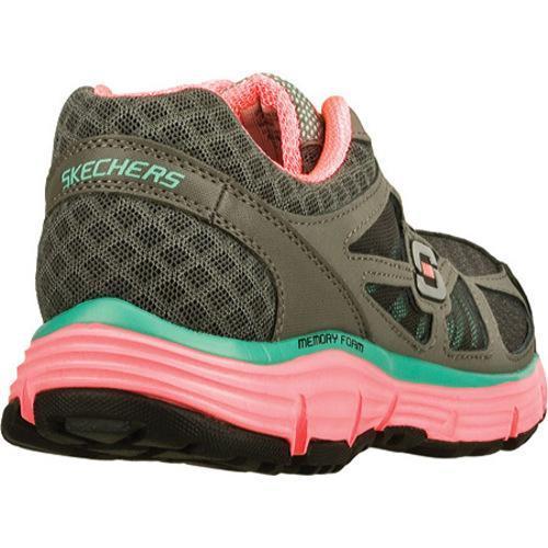 Women's Skechers Alignment Full Effect Charcoal/Hot Pink - Thumbnail 1