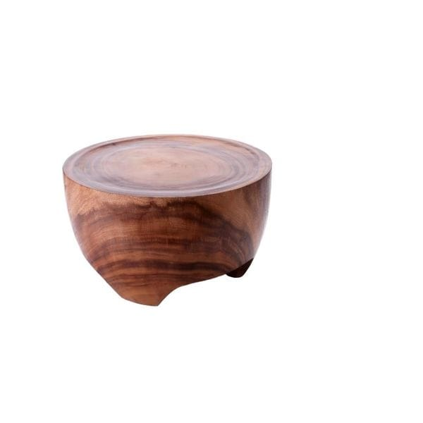 Solid Wood Short Round Side Table Free Shipping Today