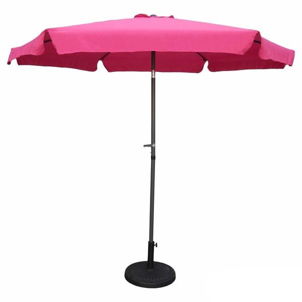 International Caravan St. Kitts 9 Ft. Aluminum Patio Umbrella With Crank    Free Shipping Today   Overstock.com   15617845