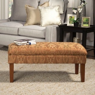 HomePop Golden Honey Blonde Storage Bench