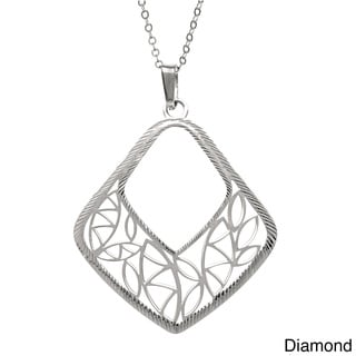 La Preciosa Sterling Silver Dainty Diamond-cut Necklace