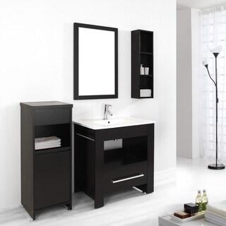 virtu usa masselin 32 inch single sink bathroom vanity set free shipping today. Black Bedroom Furniture Sets. Home Design Ideas