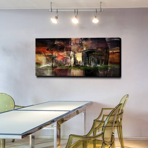 "Ready2HangArt ""Stonehenge"" Gallery-wrapped Canvas Art"