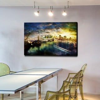 Link to Ready2HangArt 'Brooklyn Bridge' Gallery-wrapped Canvas Art Similar Items in Canvas Art