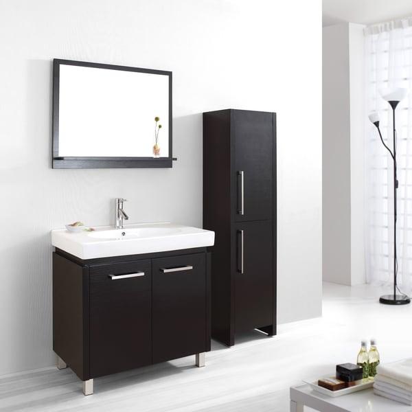 65 Inch Bathroom Vanity Single Sink: Shop Virtu USA Harmen 32-inch Single Sink Bathroom Vanity