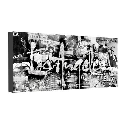 Vintage Los Angeles' City Wrapped Canvas Wall Art