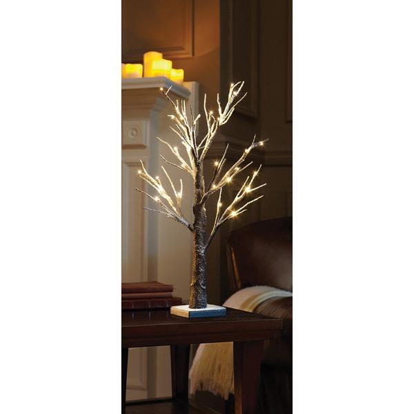 Sarah Peyton 2-foot Decorative LED Snow Tree