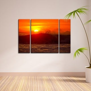 Nicola Lugo 'Sunset' 3-piece Canvas Wall Art Set
