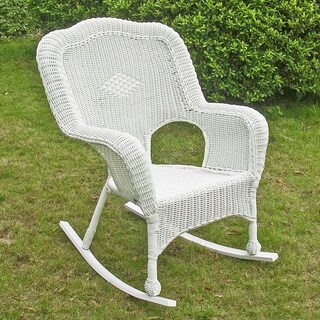International Caravan Chelsea Resin Wicker Porch Rocking Chair (Set of 2)
