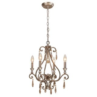 Crystorama Shelby Collection 4-light Distressed Twilight Mini Chandelier