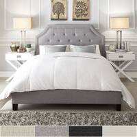 Grace Full-Size Linen Arched Bridge Top Bed by iNSPIRE Q Bold