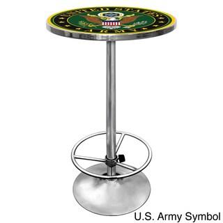 U.S Army Chrome Adjustable Height Pub Table