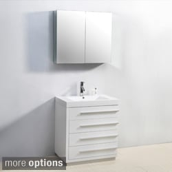 Virtu USA Bailey 30-inch Single-sink Bathroom Vanity Set