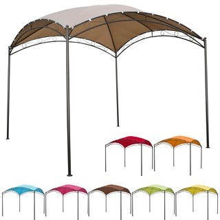 International Caravan St. Kitts 10-foot Steel/ Polyester Fabric Square Dome-top Gazebo|https://ak1.ostkcdn.com/images/products/8300542/P15618116.jpg?impolicy=medium