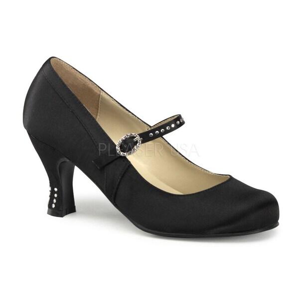 Funtasma Women's 'Flapper-20' Black Rhinestone Strap Mary Jane Heels