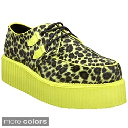 Demonia Men's 'V-Creeper-507UV' Two-tone Animal Print Creeper Shoes