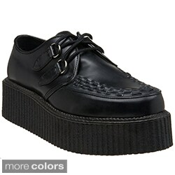 Demonia Men's 'V-Creeper 502' Topstitched Creeper Shoes