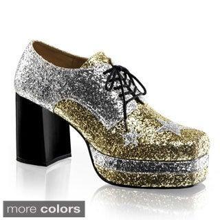Funtasma Men's 'Glamrock-02' Glitter Stacked Platform Disco Shoes (Option: S)