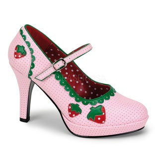 Funtasma Women's 'Contessa-58' Baby Pink Strawberry Applique Pumps