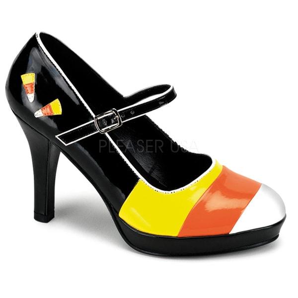 Funtasma Women's 'Contessa-55' Candy Corn Patent Faux Leather Heels