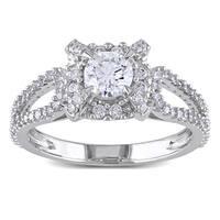 Miadora 14k White Gold 1ct TDW Diamond Ring