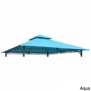 International Caravan St. Kitts Replacement Canopy for 10-foot Vented Canopy Gazebo|https://ak1.ostkcdn.com/images/products/8300796/P15618404.jpg?impolicy=medium