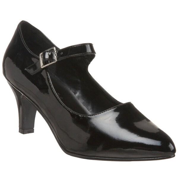 Pleaser Women's 'Divine-440 Block Heel D'Orosay Mary Jane Pumps
