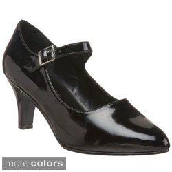 Pleaser Women's 'Divine-440 Block Heel D'Orosay Mary Jane Pumps