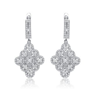 Collette Z Sterling Silver Cubic Zirconia Dangling Earrings