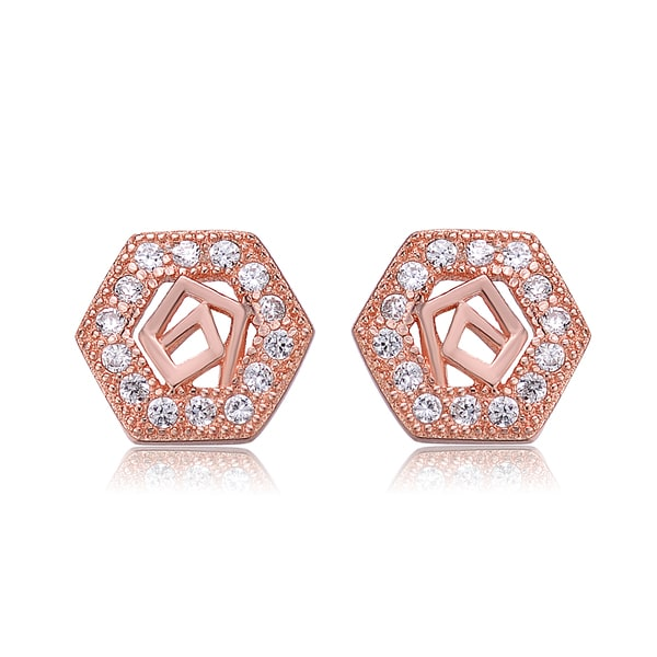 4 Ct Oval Shape Stud Earrings In 14K Rose Gold Over Sterling Silver