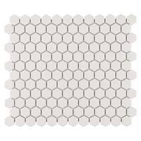 SomerTile 10.25x12-inch Manhattan Hex Antique White Unglazed Porcelain Mosaic Floor and Wall Tile (10 tiles/8.54 sqft.)