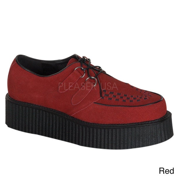 Demonia Unisex 'Creeper-402S' Suede Rockability Oxford Shoes