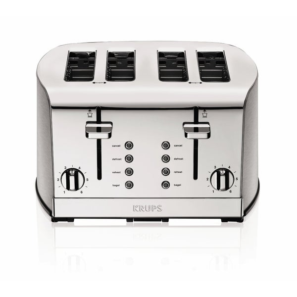 Shop Krups Kh734d Silver 4 Slice Toaster With Brushed And