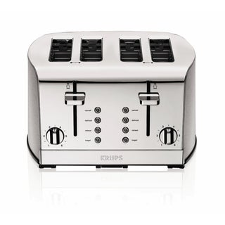 Krups KH734D Silver 4-slice Toaster with Brushed and Chrome Stainless Steel Housing