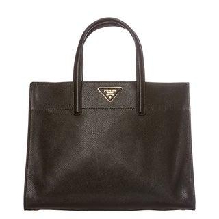 Prada Black Saffiano Leather Soft Tote