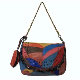 Amerileather Jingles Leather Shoulder Bag