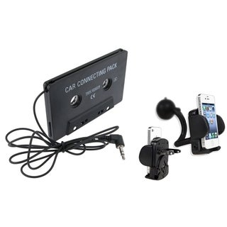 INSTEN Car Cassette Adapter/ Windshield Mount for Apple iPod Touch 4
