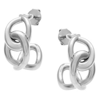 Calvin Klein Stainless Steel Linked Fashion Earrings