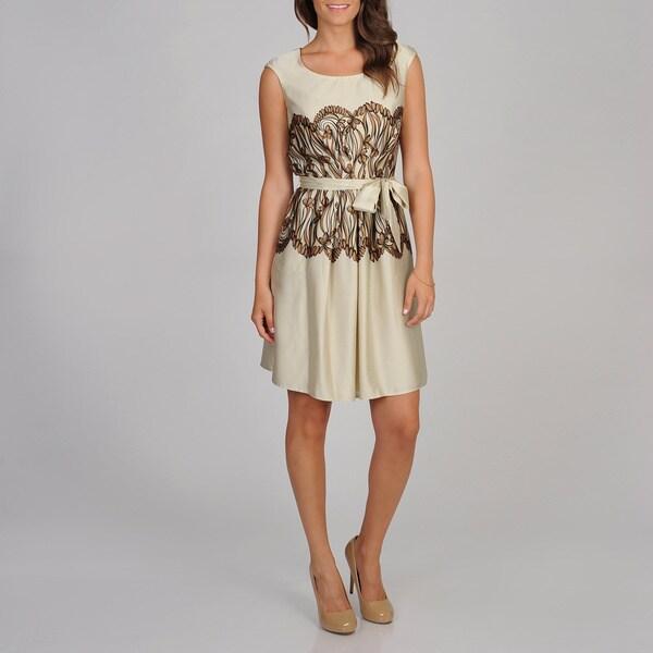 Cece's New York Women's Mirror Print Party Dress
