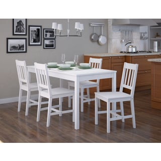 Shop Corliving Soft White Wash Finish Dining Table Set Of