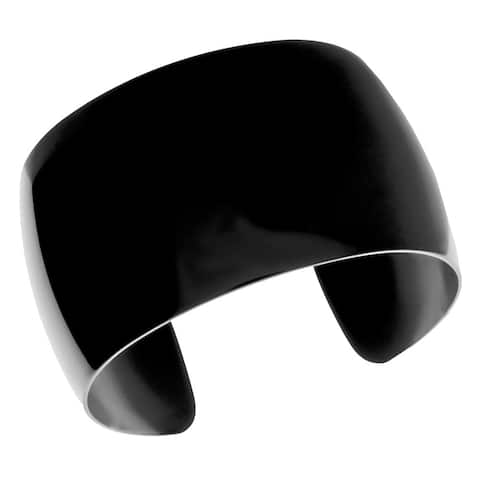 Black Ion-plated Stainless Steel 40-mm Cuff Bracelet
