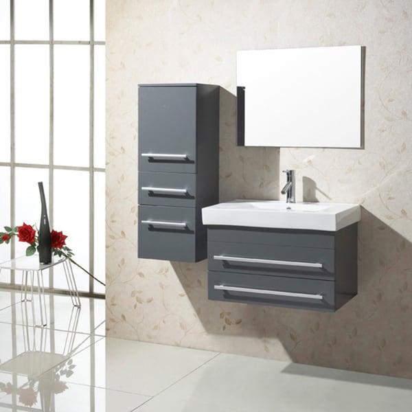 28 Inch Bathroom Vanity With Sink: Shop Virtu USA Antonio 28-inch Single Sink Bathroom Vanity