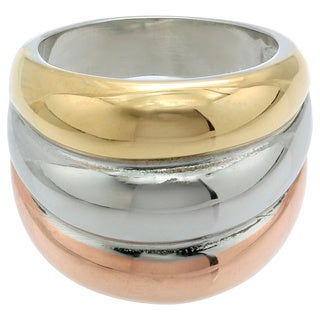 Women's Tri-color Stainless Steel Fashion Ring