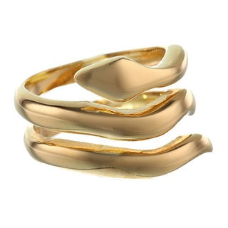 Gold Ion-plated Stainless Steel 15-mm Snake Ring