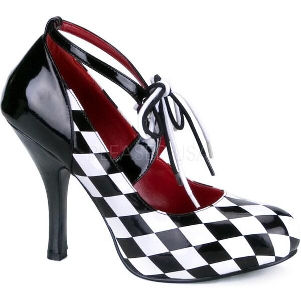 Funtasma Women's 'Harlequin-04' Diamond Pattern Harlequin Pumps