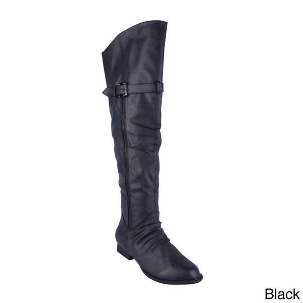 Anna Women's 'Westy-2' Over-the-Knee Flat Boots