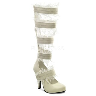 Funtasma Women's 'Mummy-100' Ivory Knee-high Wrapped Heels