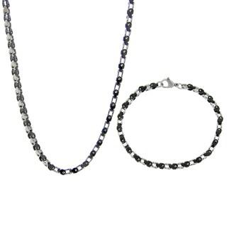 Stainless Steel 3.5-mm Bike Chain Jewelry Set
